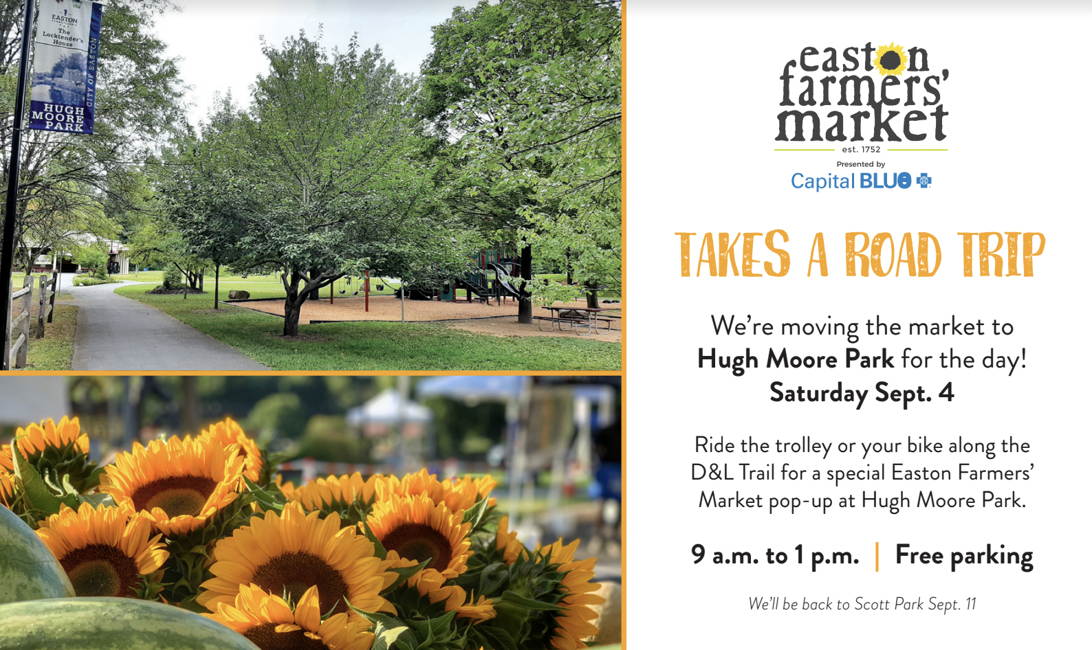 Easton Farmers' Market Moving to Hugh Moore Park for One-Day Pop-Up